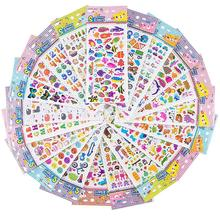 20PCS Children's Stickers 1500 Patterns 3D Puzzle Waterproof For Teachers Students Toddlers Cartoon Stickers For Girls Boys feeding patterns practiced by toddlers parents