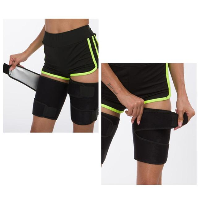 Neoprene Leg Shaper Sauna Sweat Thigh Trimmers Calories Off Anti Cellulite Slimming Legs Fat Thermo Compress Belt Face Lift 2