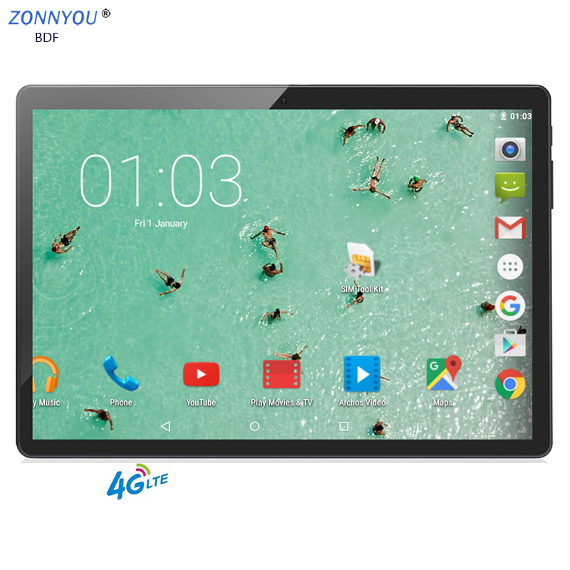 New 10.1 Inch Tablet PC Android 7.0 4G/3G Phone Call 4GB/64GB Octa Core Wi-Fi Bluetooth Dual SIM Original Tablet PC+keyboard