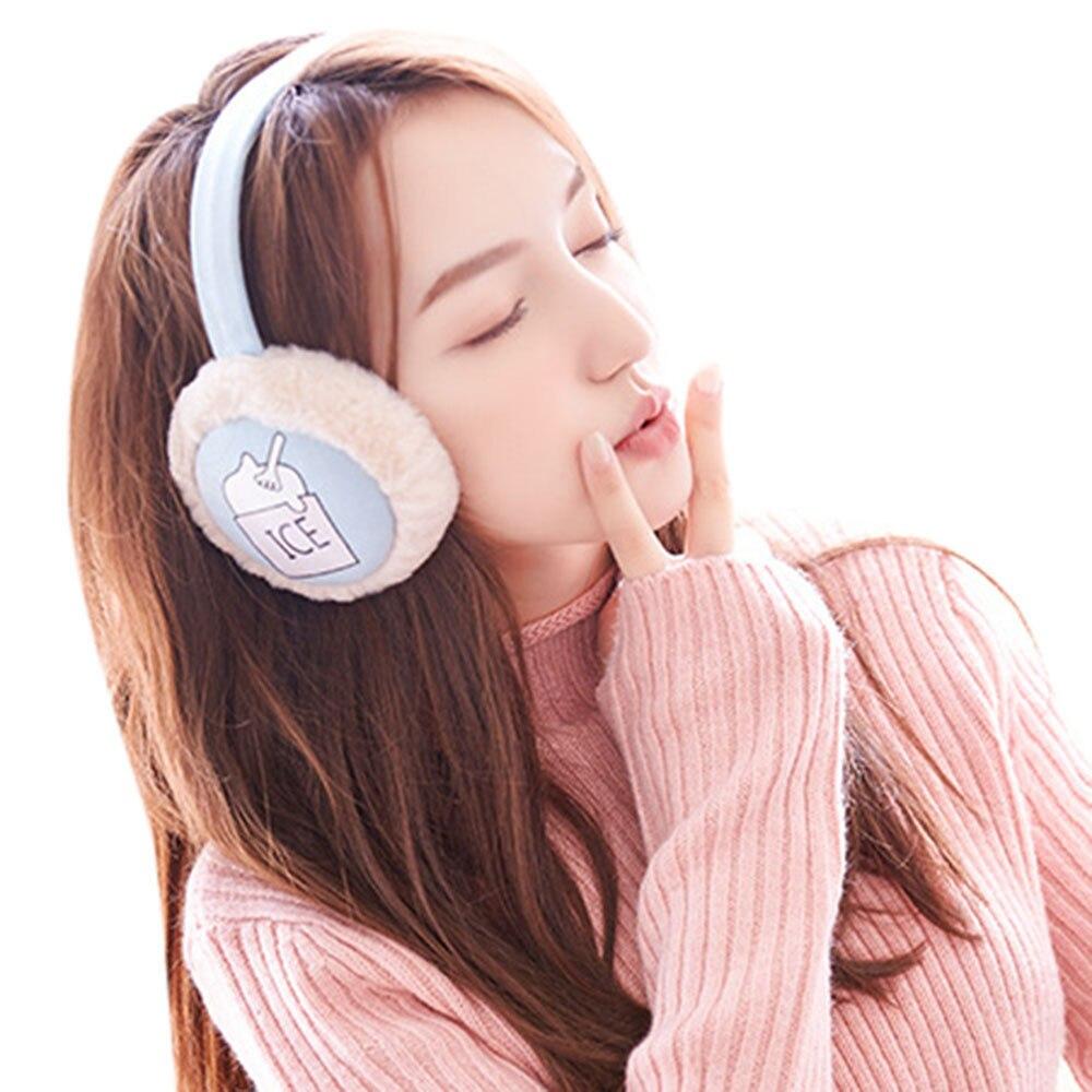 SAGACE Fashion Adult Winter Earmuffs Women Ear Warmer Plush Plain Teenage Student Mother Girl Ear Muffs Earflap Earmuffs