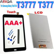 AA+ For Samsung Galaxy Tab E 8.0 T3777 T377 Touch Screen Sensor Digitizer Glass Panel + LCD Display Screen Panel Monitor Repair factory quality ips lcd display 7 85 for supra m847g internal lcd screen monitor panel 1024x768 replacement