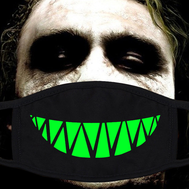 Fashion Luminous Mask Unisex Anti Dust Mouth Mask Glow In The Dark Party Cotton Face Mask For Outdoor Riding Cloth Accessories