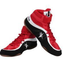 Мужская и Женская Профессиональная обувь для бокса, борьбы, тяжелой атлетики, противоскользящие носки, боксерские тренировочные ботинки для борьбы