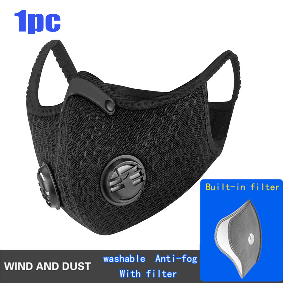 10pcs Pro Cycling Mask With KN95 Filter Protective Cycling Mask Activated Carbon Anti-Pollution Sport Training Bike Facemask