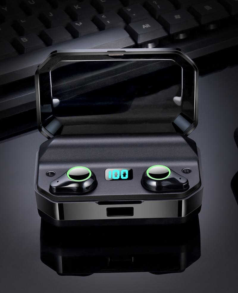 TOMKAS 8000mAh TWS Earphones 9D Stereo Bluetooth 5.0 Wireless Earphones IPX7 Waterproof Headphone LED Display with Mic Touch Key (9)
