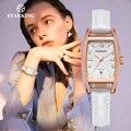 STARKING  женские часы  Роскошные  Прямоугольник  циферблат  алмаз  часы  стальной чехол  красные  женские наручные часы  подарок  сапфир  Япония  ...