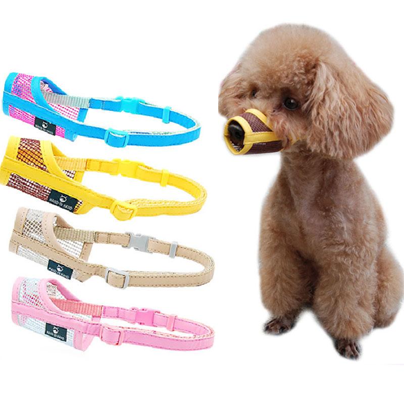 Dogs Muzzle Puppy Small Medium Large Dog Leash Leatherette Nylon Mesh Durable Muzzle Pet Muzzle Dog Accessories Dropshipping