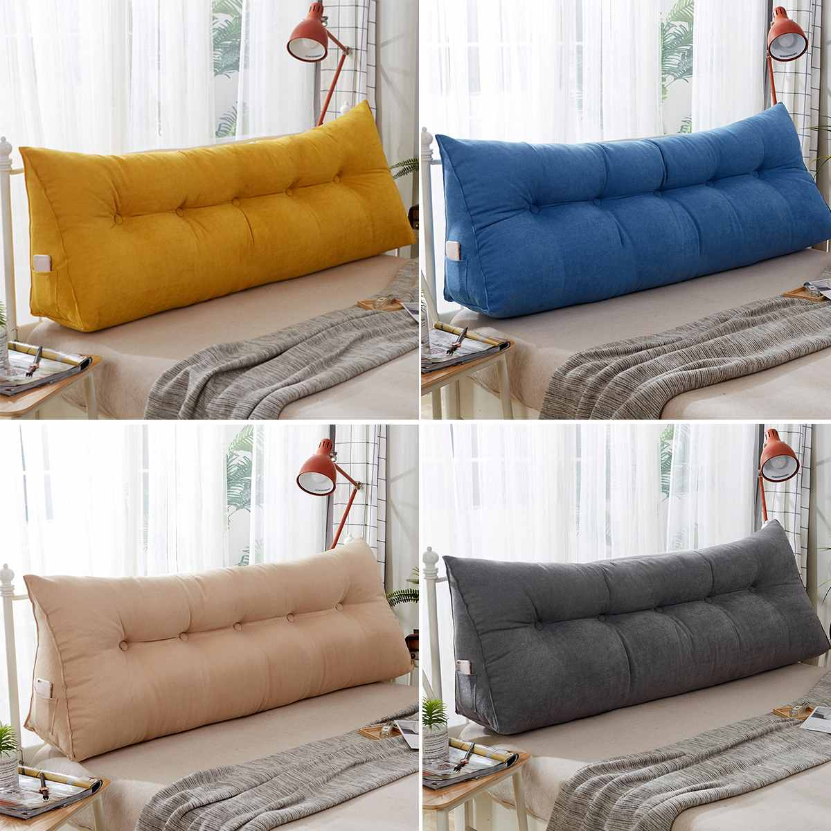 triangular backrest cushion sofa cushions bed rest pillow back support tatami sofy removable sleeping pillow 3 size