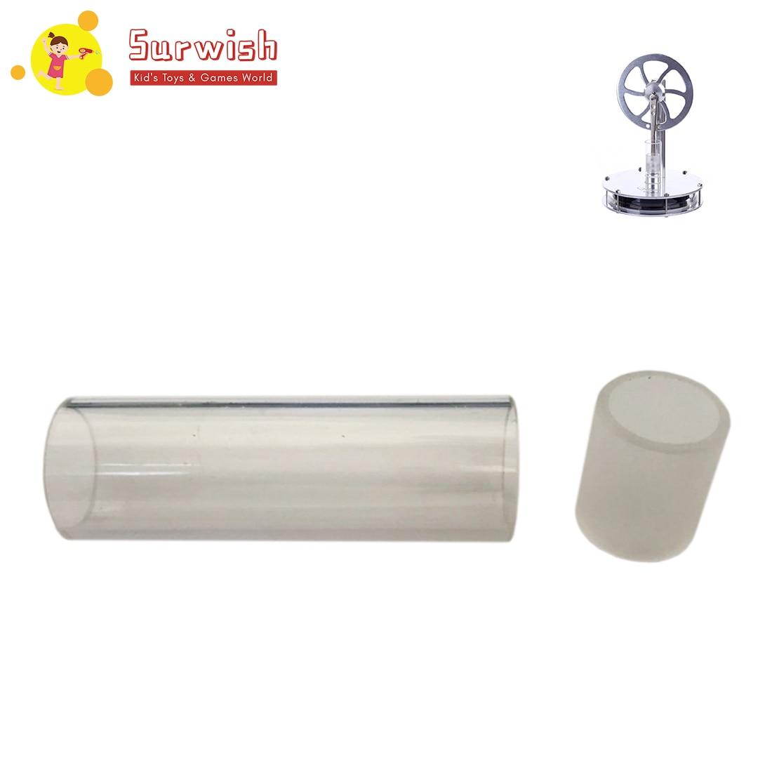 Power Zylinder Glas Rohr Mit 32mm Lange Und 15mm Äußere Durchmesser Für QX-DWCL-01 Stirling Motor Ersatz