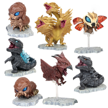 7pcs Rodan mothra의 왕 액션 피규어 인형 모델 애니메이션 영화 공룡 괴물 동물 입상 장난감 Collectible Kids Gift