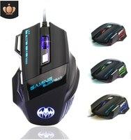 Bat cabo usb jogo fotoelétrico mouse 7 chave luminescente lâmpada respiratória poder de fogo chave mouse do computador para computador