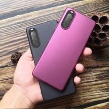פשוט מוצק צבע ultrathin חלבית מקרה טלפון נייד עבור Sony Xperia 1 השני 5II 10II אנטי להחליק ושחרר אנטי הכל כלול מקרה
