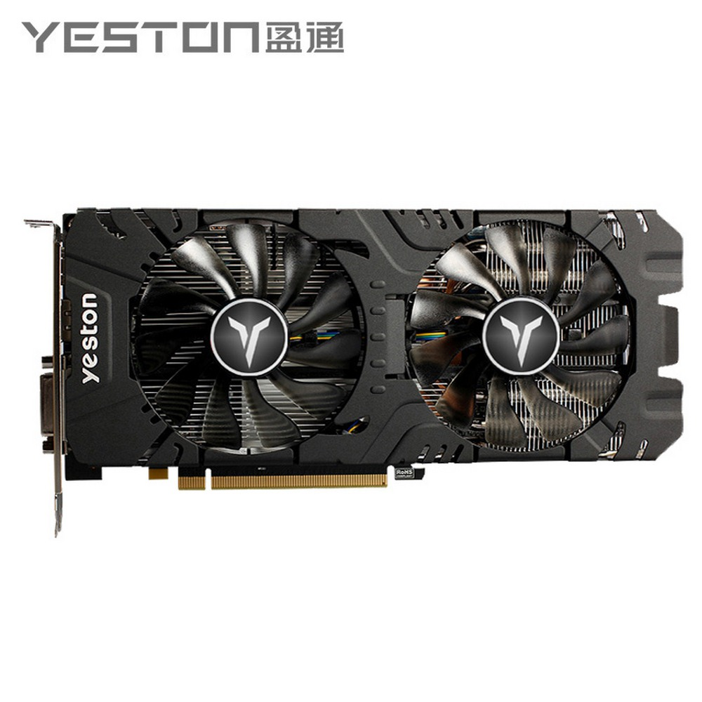 Yeston Radeon <font><b>RX</b></font> <font><b>580</b></font> GPU 8GB <font><b>GDDR5</b></font> 256bit Gaming Desktop Computer PC Video Graphics Cards Support DVI/HDMI PCI-E X16 3.0 image