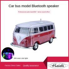 Altavoz Subwoofer con Bluetooth para coche, tarjeta de modelo de autobús de baile cuadrado, Audio pequeño portátil para exteriores