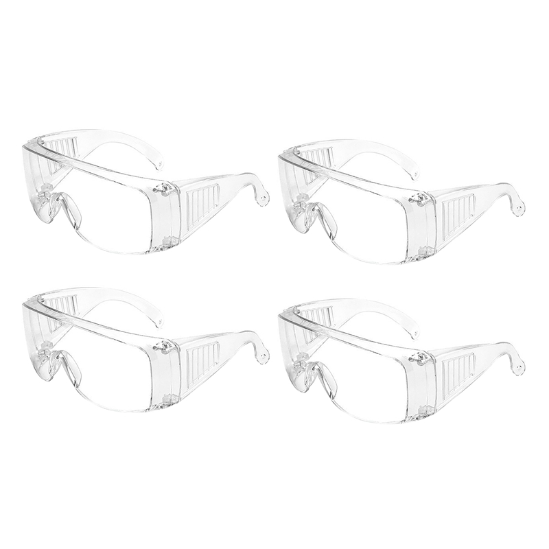 Cycling Safety Glasses Anti Spitting Dust Proof Glasses Outdoor Goggles Transparent Glasses 4 Pieces|  - title=
