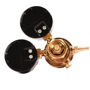 Image 2 - منظم ضغط زجاجة غاز ثاني أكسيد الكربون أرغون صغير مقياس تدفق اللحام MIG TIG W21.8 1/4 منظم 0 20 ميجا باسكال