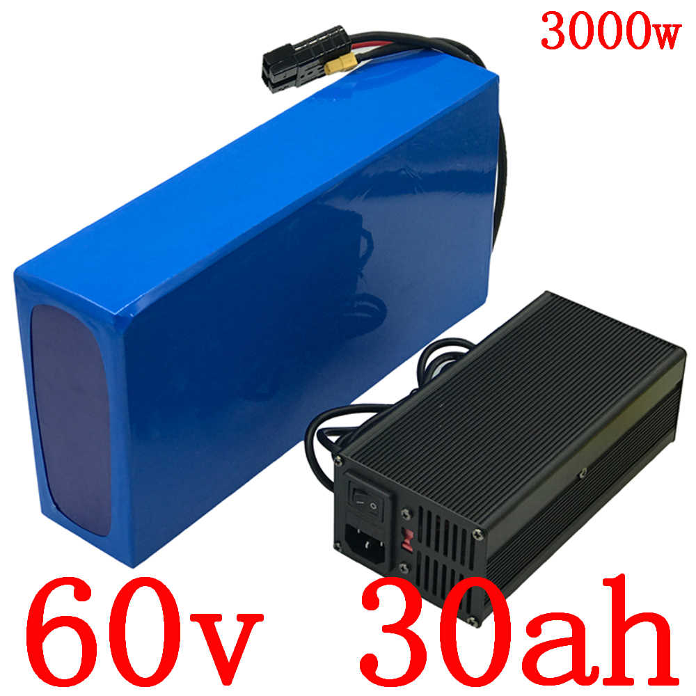 60V electric scooter battery 60V 30Ah electric bike battery 60V 30AH Lithium battery for 60V 1500W 2000W 2500W 3000W ebike motor