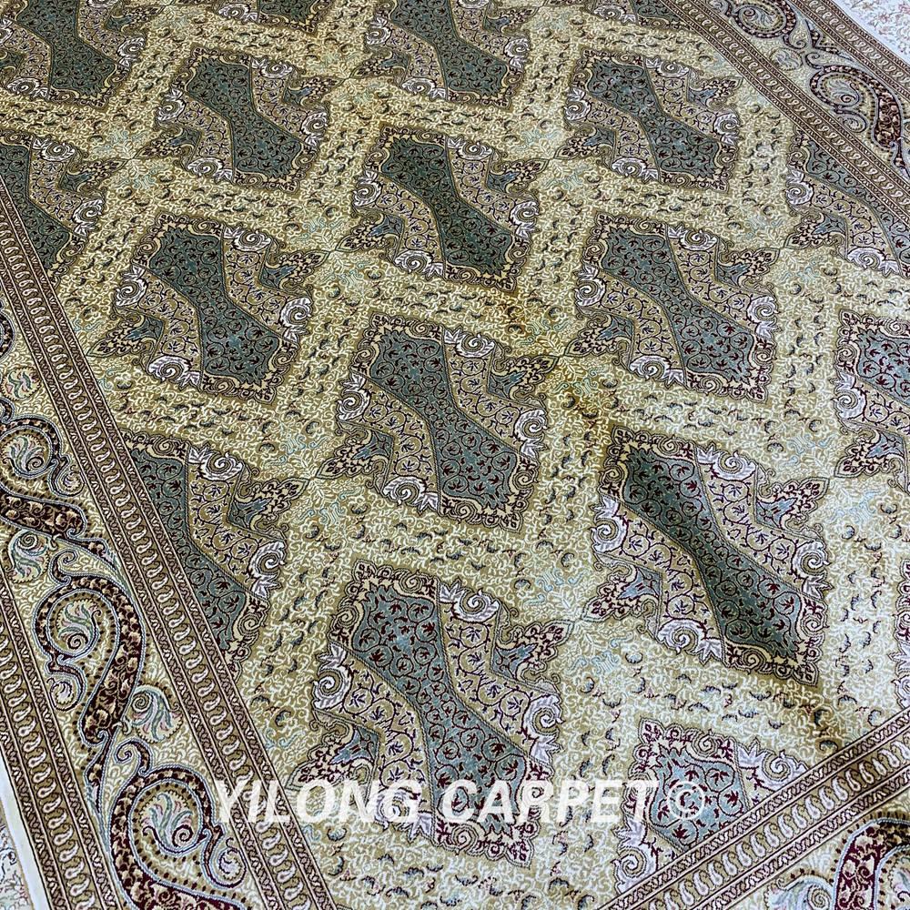 Yilong 5,5'x8 'persisk gulvtæppet rektangelgrønt tyrkisk - Hjem tekstil - Foto 5