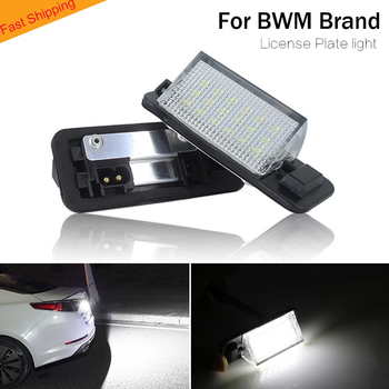 For bmw car LED License Plate Light lamp number plate lights auto car lighting for BMW E36 318i 318is 318ti 320i 323i M8 2020 image