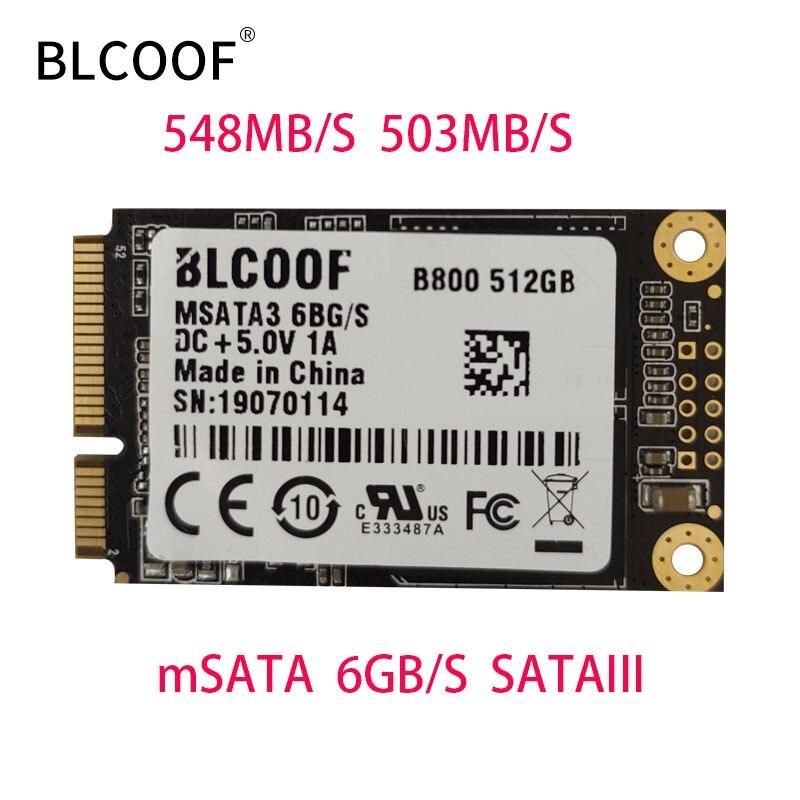 BLCOOF mSATA SSD 512GB Mini SATA disque dur à semi-conducteurs interne disque dur SSD pour ordinateur portable et ordinateur de bureau
