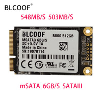 MSATA to sata SSD 512GB Mini Internal Solid State Drive Hard Drive SSD BLCOOF For Laptop and desktop computer promotion