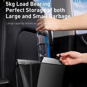 Image 3 - Baseus Auto Sitz Zurück Veranstalter PU Leder Müll Lagerung Tasche Auto Rücksitz Multi Tasche Hängen Beutel Auto Organizer Zubehör