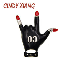 Женская эмалированная брошь CINDY XIANG, черная брошь в стиле рок, новый дизайн, зимний стиль, высокое качество, хит продаж