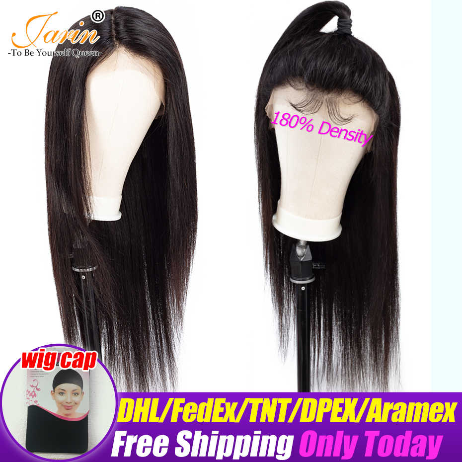 Lace Front Wig Straight 13x4 Human Hair Wigs 180% density Pre-Plucked Brazilian Straight Lace Frontal Wigs Remy Jarin