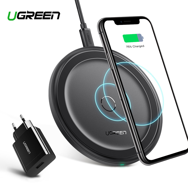 Ugreen Wireless Charger For iPhone X 8 XS XR 10W Qi Wireless Charging Pad QC 3.0 for Samsung S9 Note 9 8