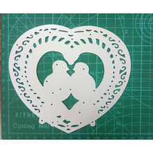 123*138mm  love heart birds Metal Cutting Dies for DIY Scrapbooking Photo Album Decorative Embossing Paper Card Crafts