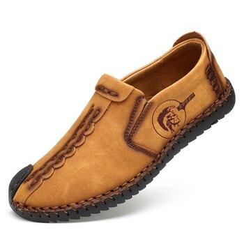 Zapatos de Hombre, cómodos mocasines informales, mocasín Estilo Vintage, Zapatos masculinos de...