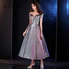Женское платье для выпускного it's yiiya фиолетовое блестящее