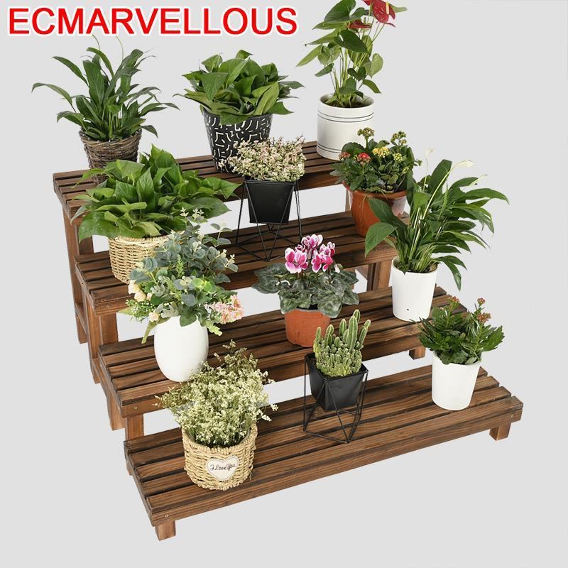 Plantas Indoor Rak Bunga Table Plantenstandaard Terraza Etagere Pour Plante Balcony Flower Shelf Rack Dekoration Plant Stand