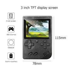 Console de vídeo game retrô portátil 400 jogos, mini console portátil retrô com 3.0 cores, tela lcd, jogo portátil jogadores