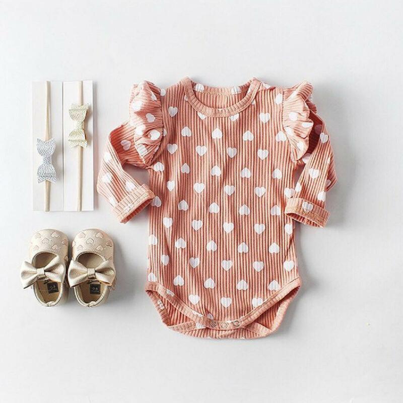 UK Newborn Infant Baby Girls Tops Romper Jumpsuit Bodysuit Outfits Clothes