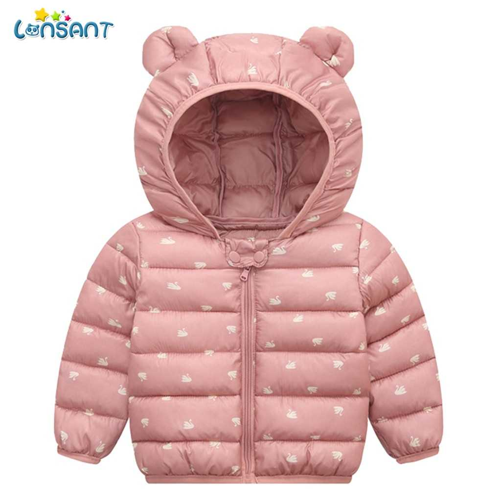 LONSANT 2019 Fashion Infant Newborn Baby Girls Boys Clothes Children Winter Cotton Warm Hooded Full Sleeve Outfits Clothing N30