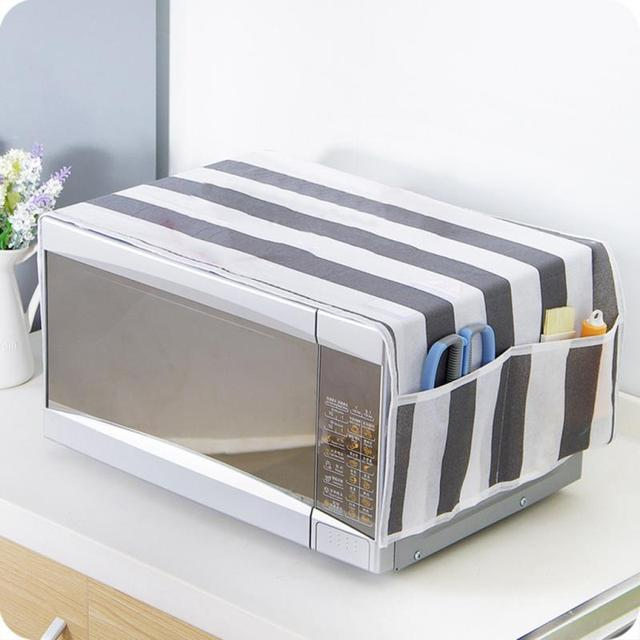 anti oil microwave dust proof cover with pockets