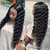 Luźna fala Glueless pełne peruki typu Lace z ludzkich włosów dla kobiet 250 gęstości brazylijski HD przejrzyste koronki peruka fałszywe skóry głowy Dolago peruka