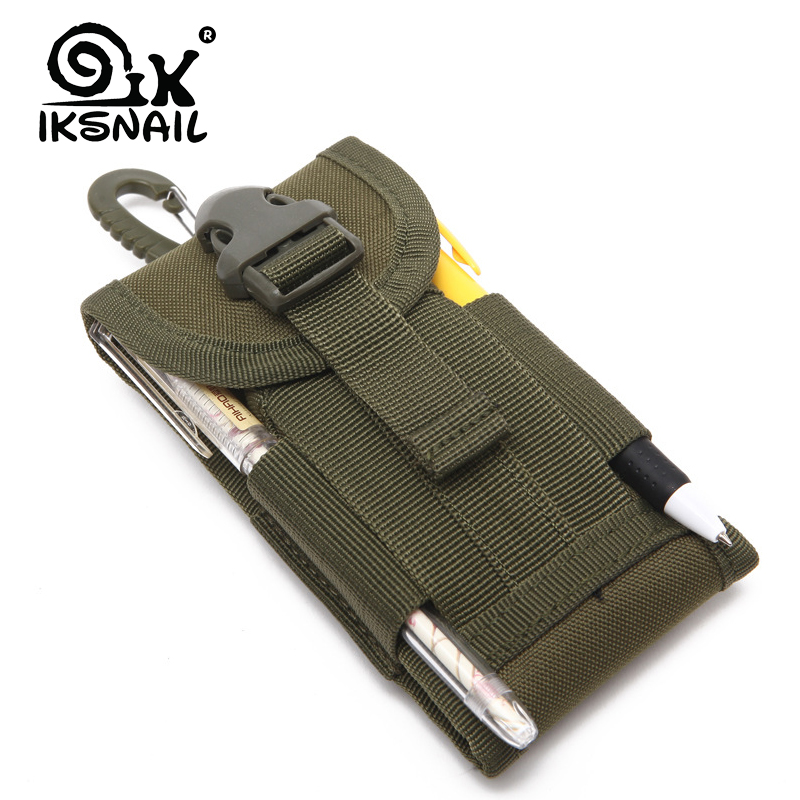 IKSNAIL Outdoor Camouflage Bag Tactical Army Phone Holder Sport Waist Belt Case Waterproof Sport Hunting Camo Bags In Backpack