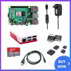 Raspberry Pi 4 2 ГБ 4 ГБ RAM с ABS корпусом источник питания алюминиевый теплоотвод Micro HDMI кабель для Raspberry Pi 4 Модель B Pi 4B Pi4