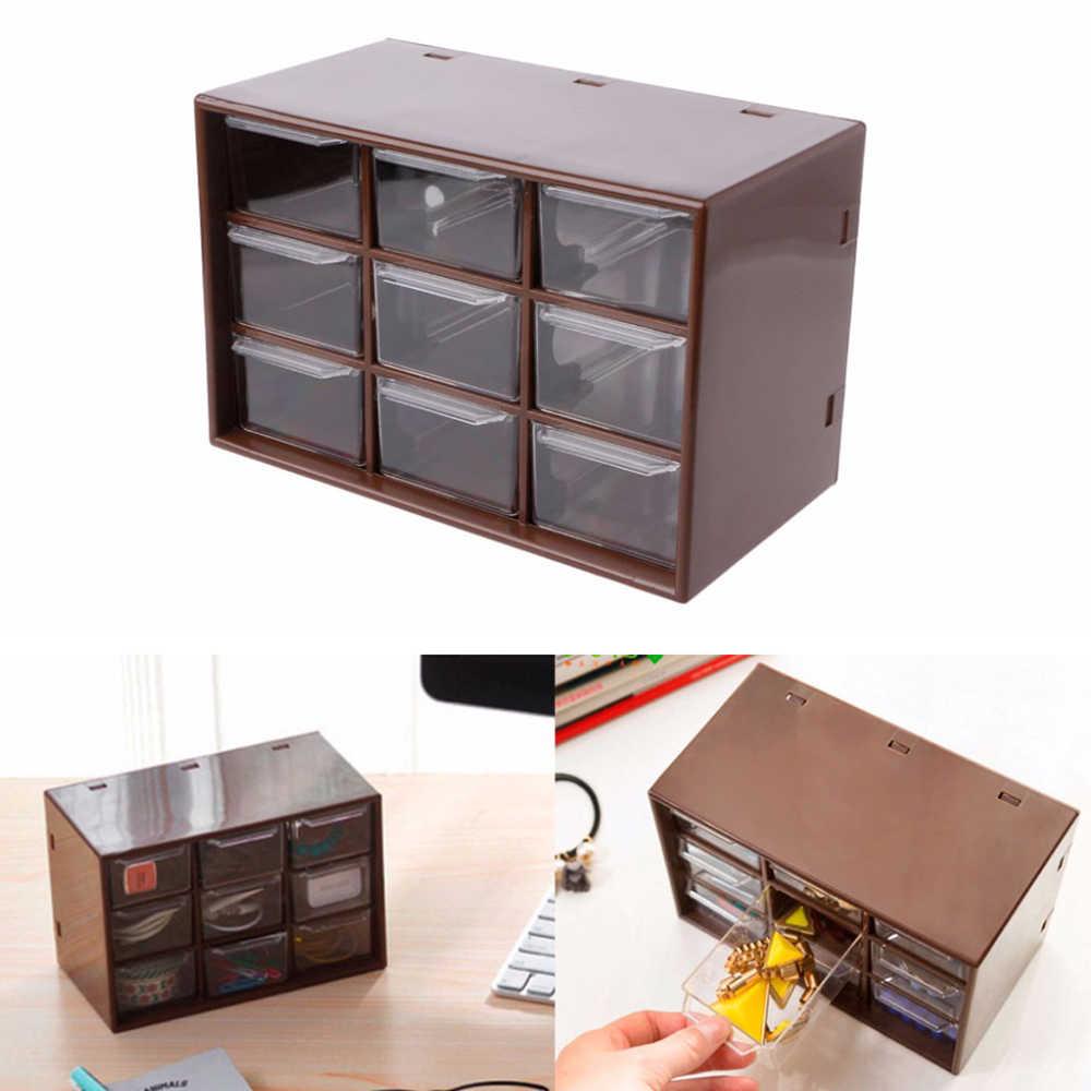 Mini Debris Cabinet Jewelry Storage Box Lattice Portable Drawer Sorting Supplies