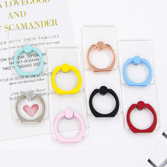 Universal Hd Transparent Mobile Phone Holder Candy Color Phone Ring Holder Cell Phone Stand Finger Ring Holder Soporte Celular