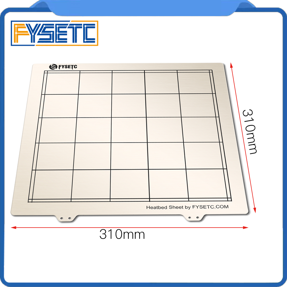 1pc 310 * 310mm Spring Steel Sheet Heat Bed Platform 3D Printer Printing Buildplate For Creality CR10 CR-10/10S Printer