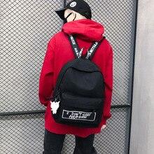 جديد على ظهره موضة قماش المرأة على ظهره دمية قلادة السفر المرأة حقيبة كتف Harajuku على ظهره الإناث الحقائب المدرسية