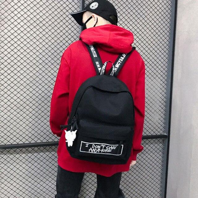 חדש תרמיל אופנה בד נשים תרמיל בובת תליון נסיעות נשים כתף תיק Harajuku תרמיל נשי בית ספר שקיות