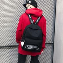 New Backpack Fashion Canvas Women Backpack Doll Pendant Travel Women Shoulder Bag Harajuku Backpack Female School Bags