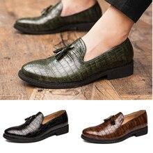 أحذية رجالي موضة 2020 أحذية زفاف من الجلد للرجال أحذية رسمية مصنوعة من جلد أكسفورد للرجال