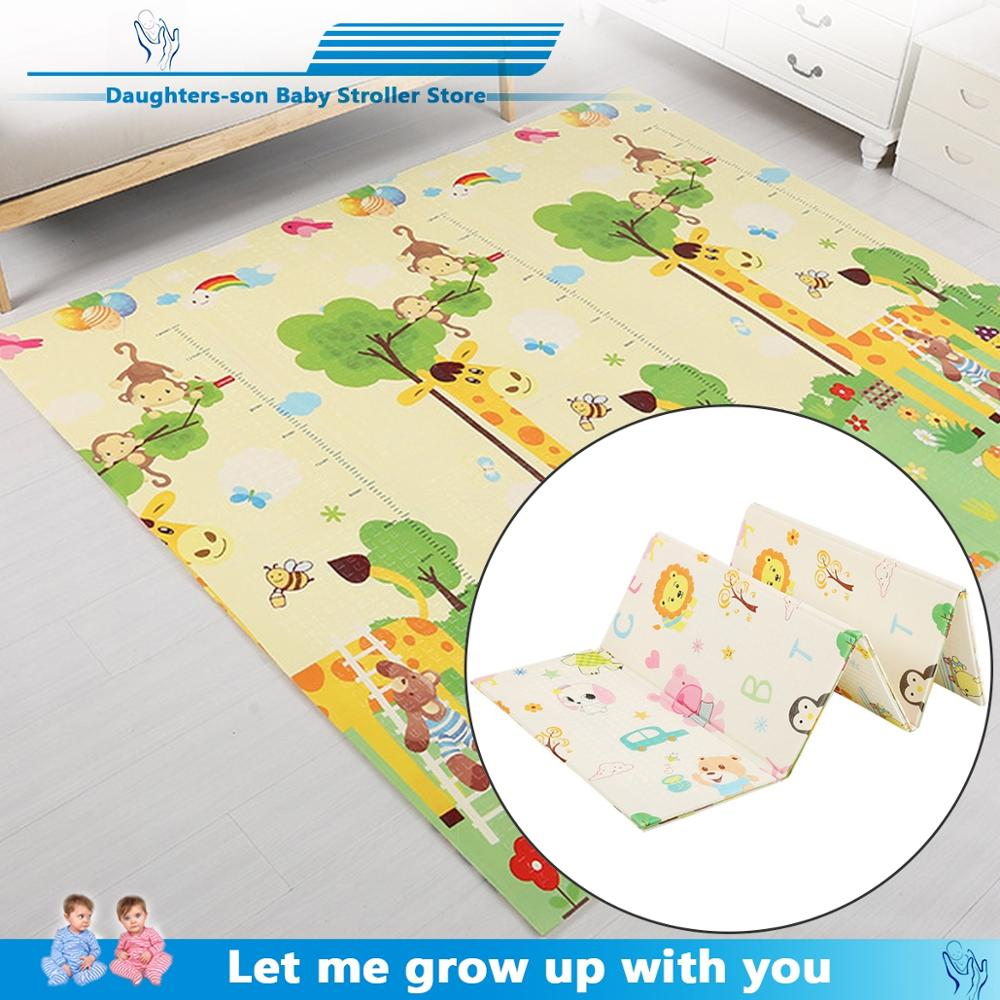 Baby Play Mat Waterproof XPE Soft Floor Playmat Foldable Crawling Carpet Kid Game Blanket Educational Toys Activity Rug Folding