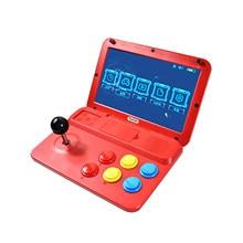 Powkiddy a13 console de jogos de vídeo handheld jogador de jogo arcade joystick embutido 3000 jogos de 10 polegadas suporte de tela com fio gamepad