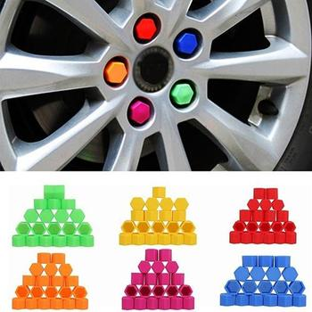 80% HOT SALES!!!20 Pcs 19mm Silicone Car Wheel Nut Screw Cover Car Rims Exterior Bolt Caps image